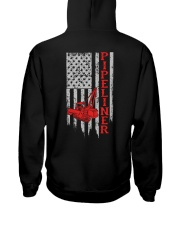 American Pipeliner Flag Shirt Hooded Sweatshirt back