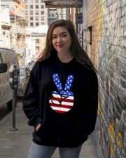 Black Hoodie Hooded Sweatshirt lifestyle-unisex-hoodie-front-1