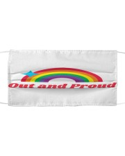 Out And Proud Pride Cloth face mask front
