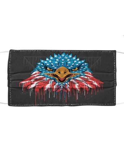eagle head america usa flag