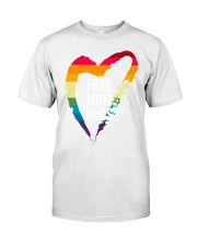 Fr-ee Mom Hug With Heart Premium Fit Mens Tee thumbnail