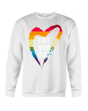Fr-ee Mom Hug With Heart Crewneck Sweatshirt thumbnail