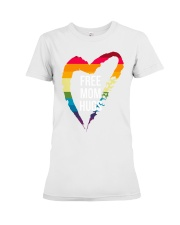 Fr-ee Mom Hug With Heart Premium Fit Ladies Tee thumbnail
