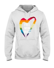 Fr-ee Mom Hug With Heart Hooded Sweatshirt thumbnail