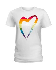 Fr-ee Mom Hug With Heart Ladies T-Shirt thumbnail
