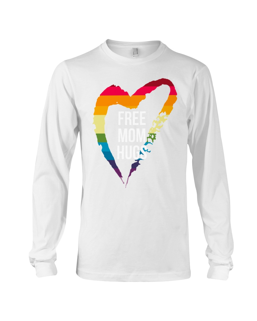 Fr-ee Mom Hug With Heart Long Sleeve Tee