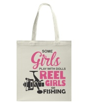 REEL GIRLS GO FISHING Tote Bag thumbnail