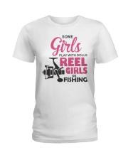 REEL GIRLS GO FISHING Ladies T-Shirt thumbnail