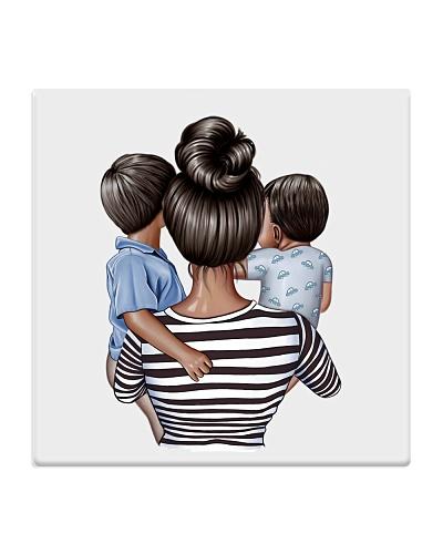 Boy mom dark hair dark skin