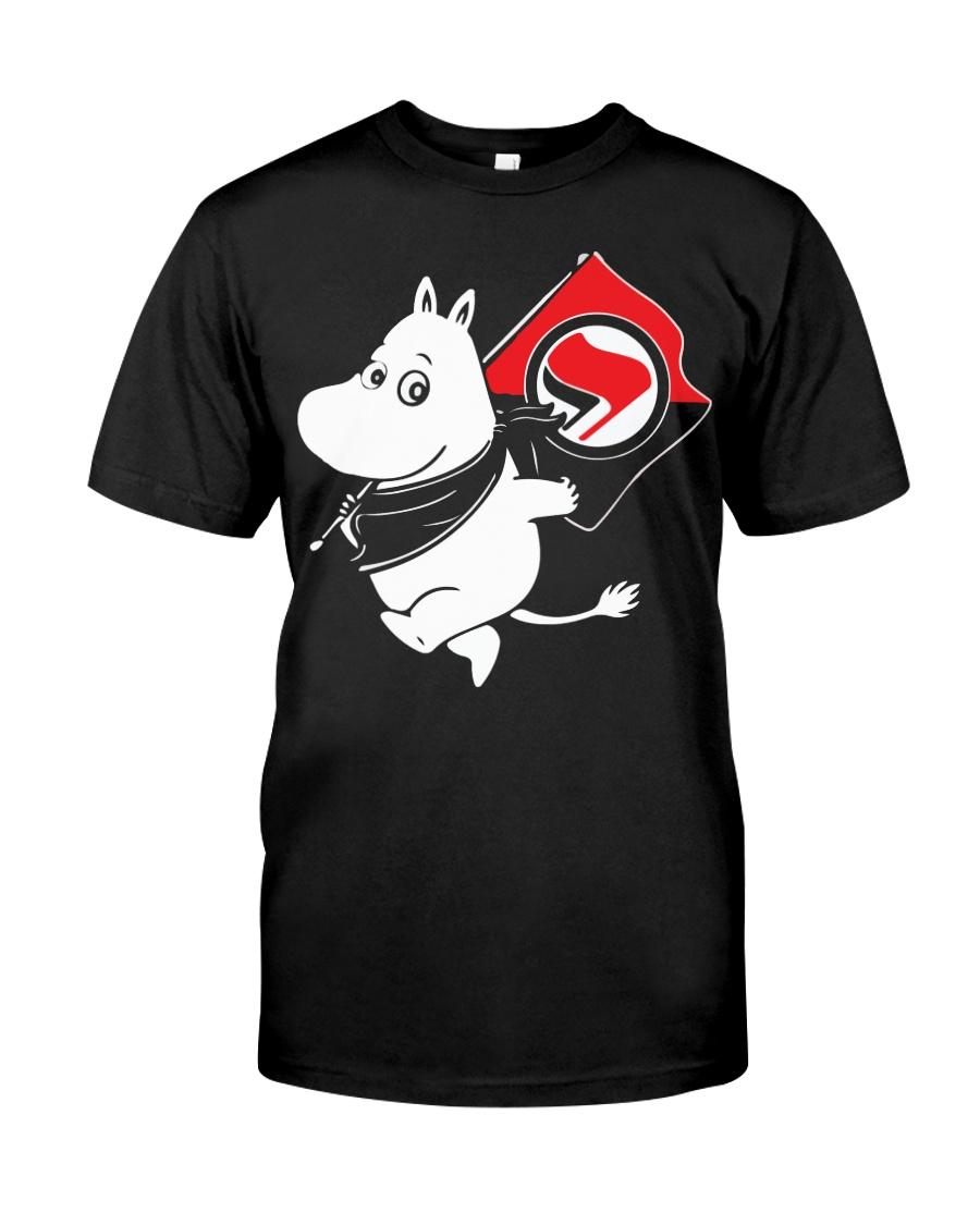 Antifa Moomin Anti Fascist T-Shirt Classic T-Shirt