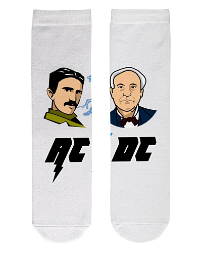 Real AC-DC -Tesla and Edison Shirt