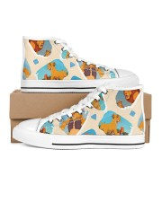 Shoe lion 1 Men's High Top White Shoes inside-right-outside-right