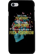 Life - Skull and Tattoo Phone Case tile