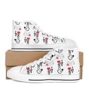 Shoeb love d 1 Men's High Top White Shoes inside-left-outside-left