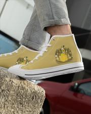Shoe plu 2 Men's High Top White Shoes aos-complex-men-white-high-top-shoes-lifestyle-inside-left-outside-left-09