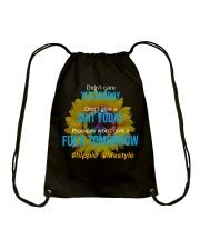 Flower Child Drawstring Bag front
