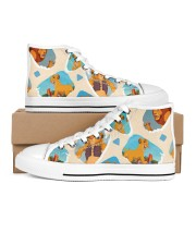 Shoe lion 2 Men's High Top White Shoes inside-right-outside-right