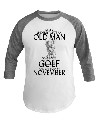 Old Man Playing Golf Born In November
