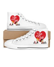 lucy love  Men's High Top White Shoes thumbnail