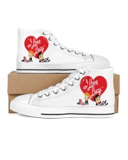 lucy love  Women's High Top White Shoes outside-right-inside-right
