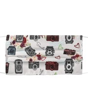Photography Pattern Face Cloth face mask front