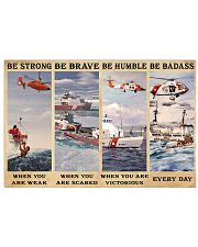 USCG Be strong be brave be humble be badass 17x11 Poster front