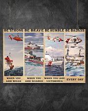 USCG Be strong be brave be humble be badass 17x11 Poster poster-landscape-17x11-lifestyle-12