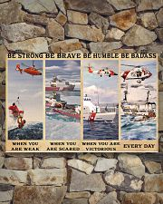 USCG Be strong be brave be humble be badass 17x11 Poster poster-landscape-17x11-lifestyle-16