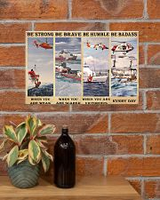 USCG Be strong be brave be humble be badass 17x11 Poster poster-landscape-17x11-lifestyle-23