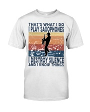 THAT'S WHAT I DO I PLAY SAXOPHONES Premium Fit Mens Tee thumbnail