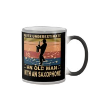 NEVER UNDERESTIMATE AN OLD MAN WITH AN SAXOPHONE Color Changing Mug thumbnail