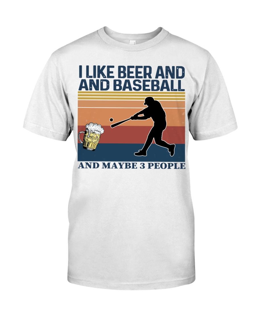 Baseball I Like Beer and Baseball Vintage Classic T-Shirt