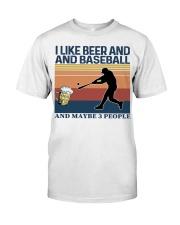 Baseball I Like Beer and Baseball Vintage Classic T-Shirt front