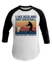 Baseball I Like Beer and Baseball Vintage Baseball Tee thumbnail