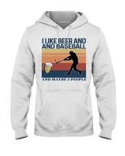 Baseball I Like Beer and Baseball Vintage Hooded Sweatshirt thumbnail