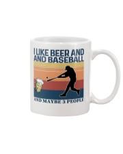 Baseball I Like Beer and Baseball Vintage Mug thumbnail