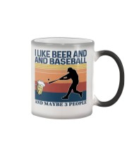 Baseball I Like Beer and Baseball Vintage Color Changing Mug thumbnail