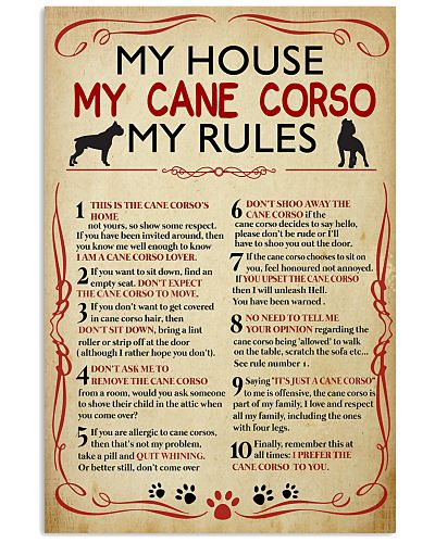 My House My Cane Corso My Rules