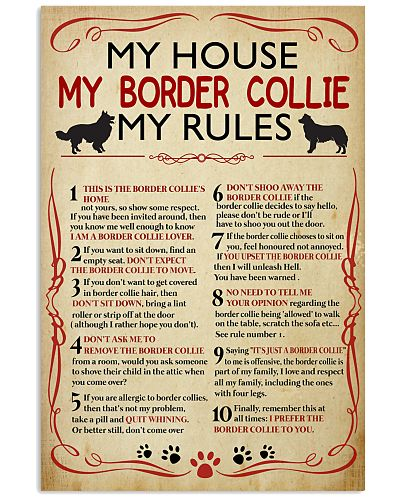My House My Border Collie My Rules