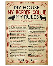 My House My Border Collie My Rules 16x24 Poster front