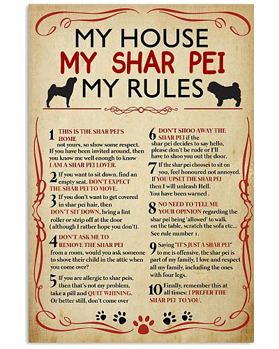My House My Sharpei My Rules