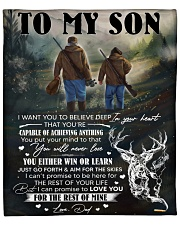 """I Want You To Believe In Your Heart Hunting To Son Fleece Blanket - 50"""" x 60"""" front"""