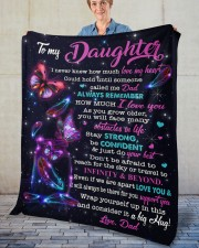 """I Never Knew How Much Love My Heart To Daughter Fleece Blanket - 50"""" x 60"""" aos-coral-fleece-blanket-50x60-lifestyle-front-02"""