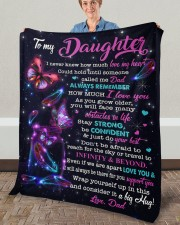 """I Never Knew How Much Love My Heart To Daughter Fleece Blanket - 50"""" x 60"""" aos-coral-fleece-blanket-50x60-lifestyle-front-02a"""