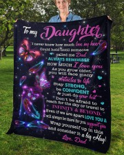 """I Never Knew How Much Love My Heart To Daughter Fleece Blanket - 50"""" x 60"""" aos-coral-fleece-blanket-50x60-lifestyle-front-02b"""