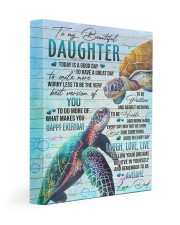 Today Is A Good Day HAve Great Day Dad To Daughter 11x14 Gallery Wrapped Canvas Prints front