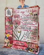 """Everything I Am You Helped Me To Be To Mom Fleece Blanket - 50"""" x 60"""" aos-coral-fleece-blanket-50x60-lifestyle-front-02"""