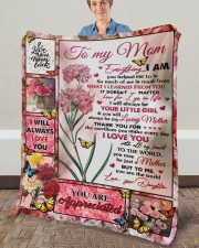 """Everything I Am You Helped Me To Be To Mom Fleece Blanket - 50"""" x 60"""" aos-coral-fleece-blanket-50x60-lifestyle-front-02a"""