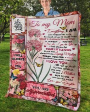 """Everything I Am You Helped Me To Be To Mom Fleece Blanket - 50"""" x 60"""" aos-coral-fleece-blanket-50x60-lifestyle-front-02b"""