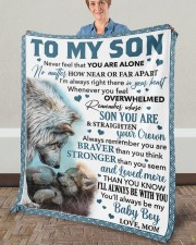 """Never Feel That You Are Alone Mom To Son Fleece Blanket - 50"""" x 60"""" aos-coral-fleece-blanket-50x60-lifestyle-front-02a"""